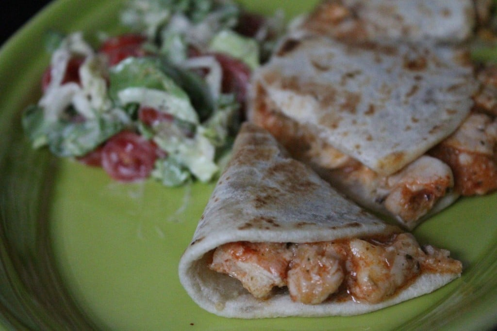 Jenny Volumizing: Cheesy Buffalo Chicken Quesadilla | No Thanks to Cake