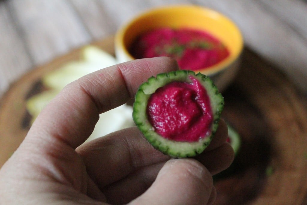 Creamy Cheesy Beet Dip | No Thanks to Cake