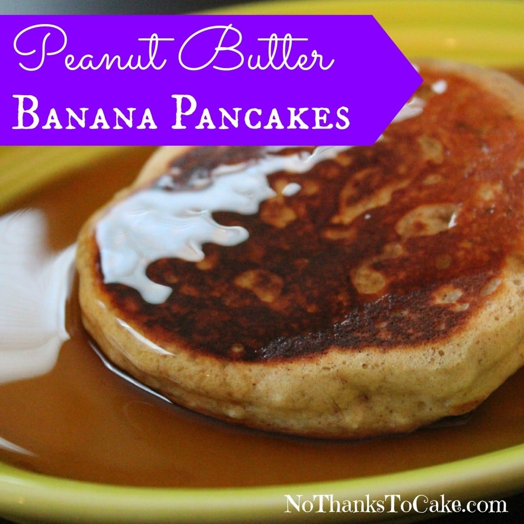 Peanut Butter Pancakes | No Thanks to Cake