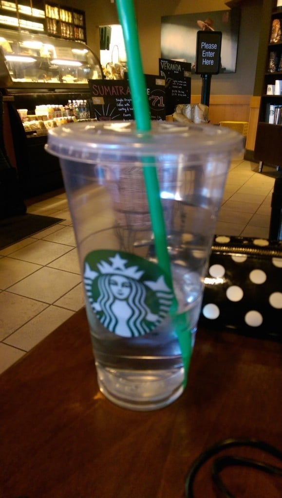Starbucks Venti Ice Water | No Thanks to Cake