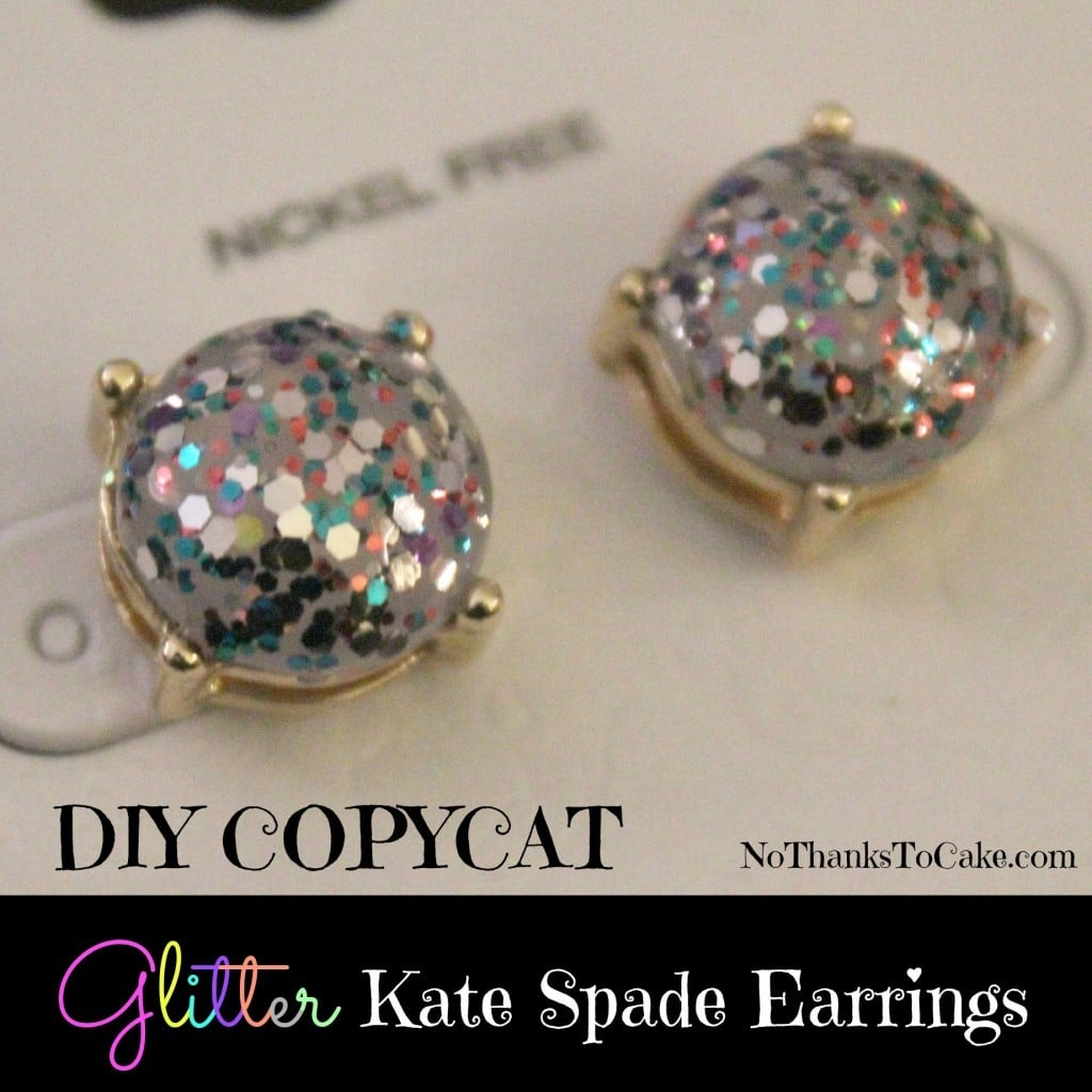 DIY Copycat Glitter Kate Spade Earrings | No Thanks to Cake