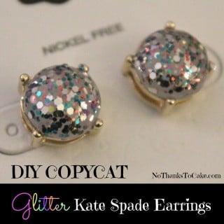DIY Copycat Glitter Kate Spade Earrings
