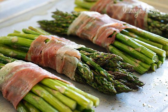 Prosciutto-Wrapped Asparagus | No Thanks to Cake