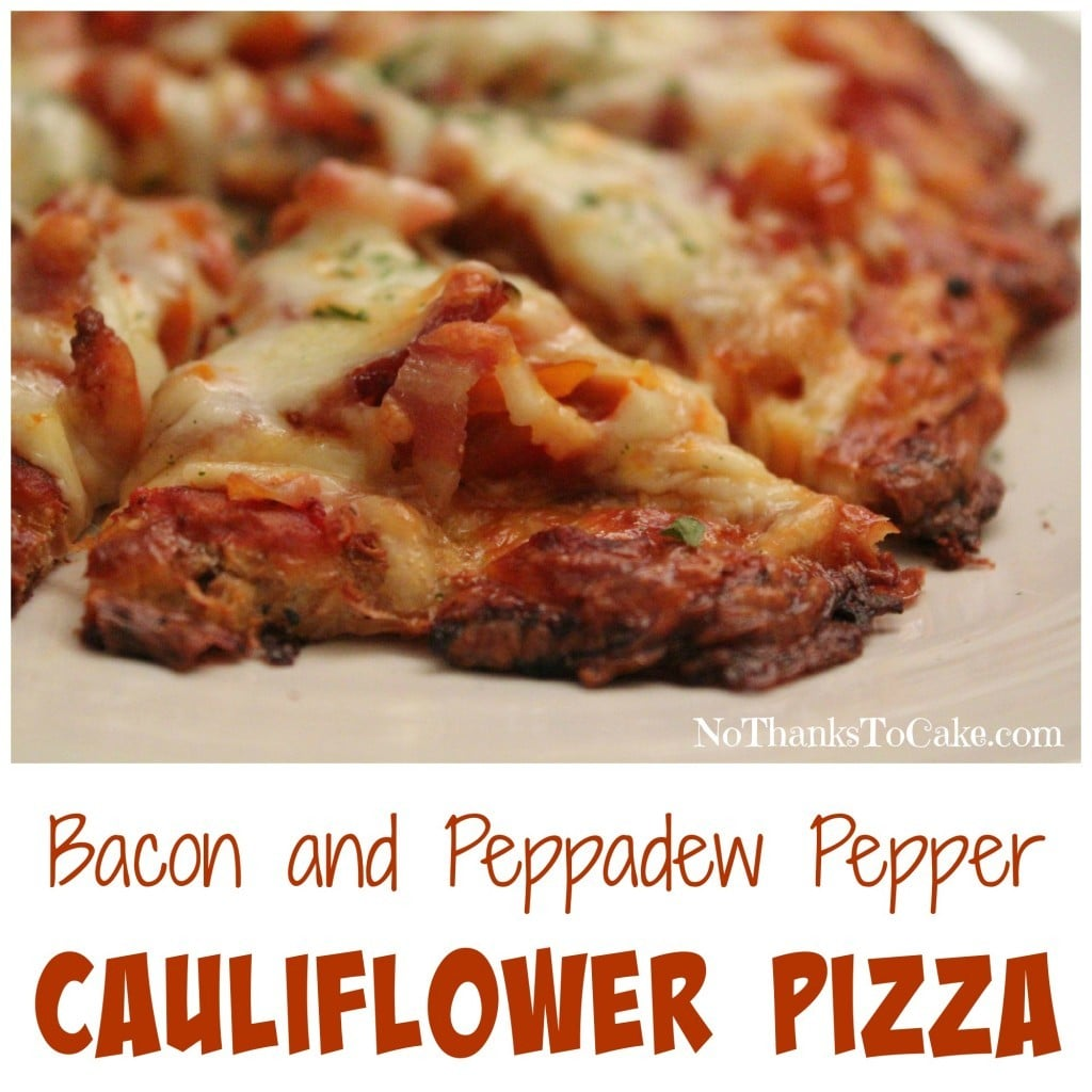 Bacon and Peppadew Pepper Cauliflower Pizza | No Thanks to Cake