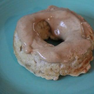 Baked Banana Donuts with PB2 Glaze