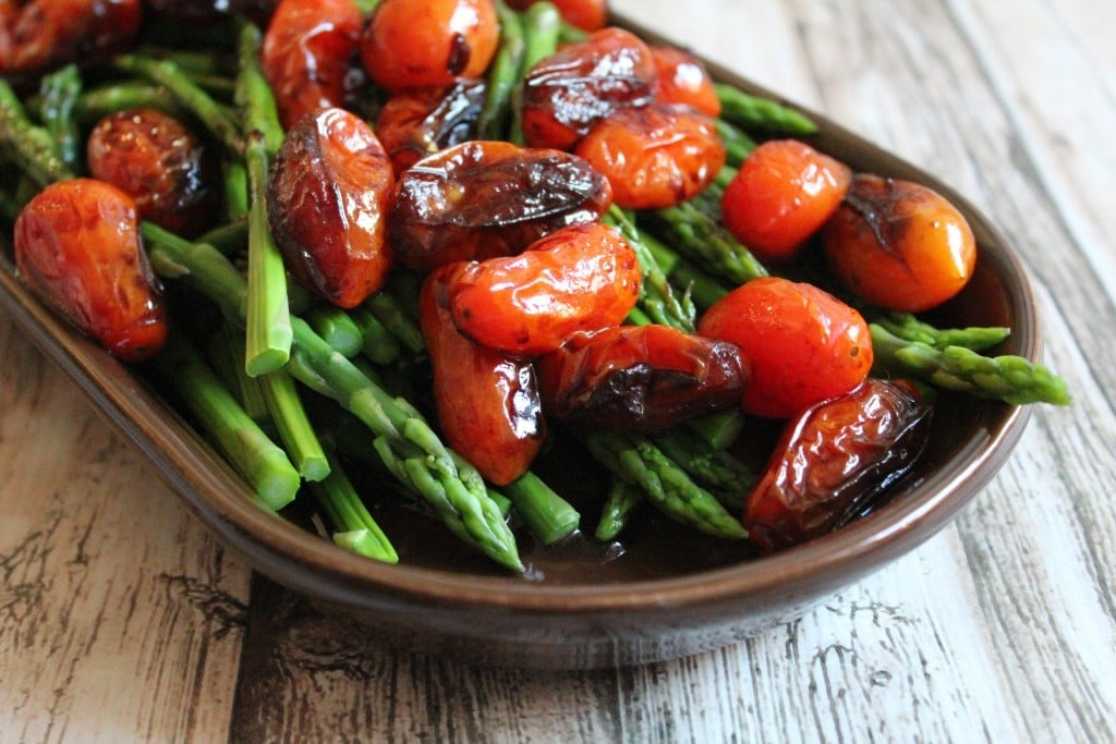 Balsamic Asparagus and Tomatoes | No Thanks to Cake