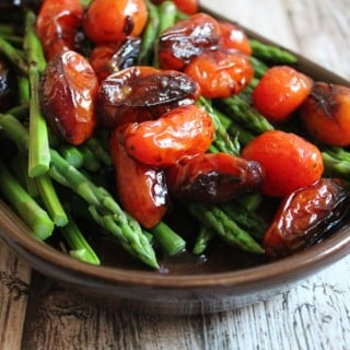 Balsamic Asparagus and Tomatoes