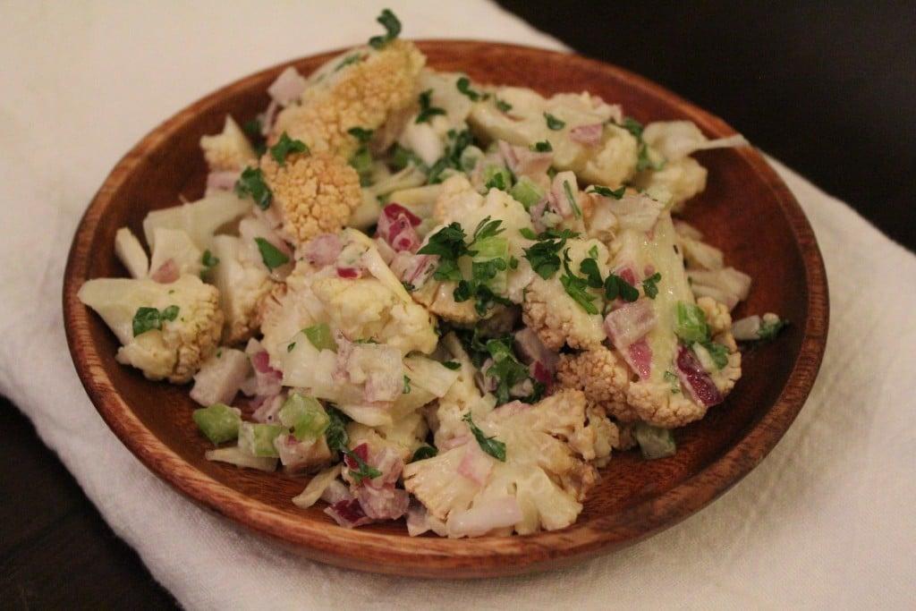 No Potato Cauliflower Salad | No Thanks to Cake