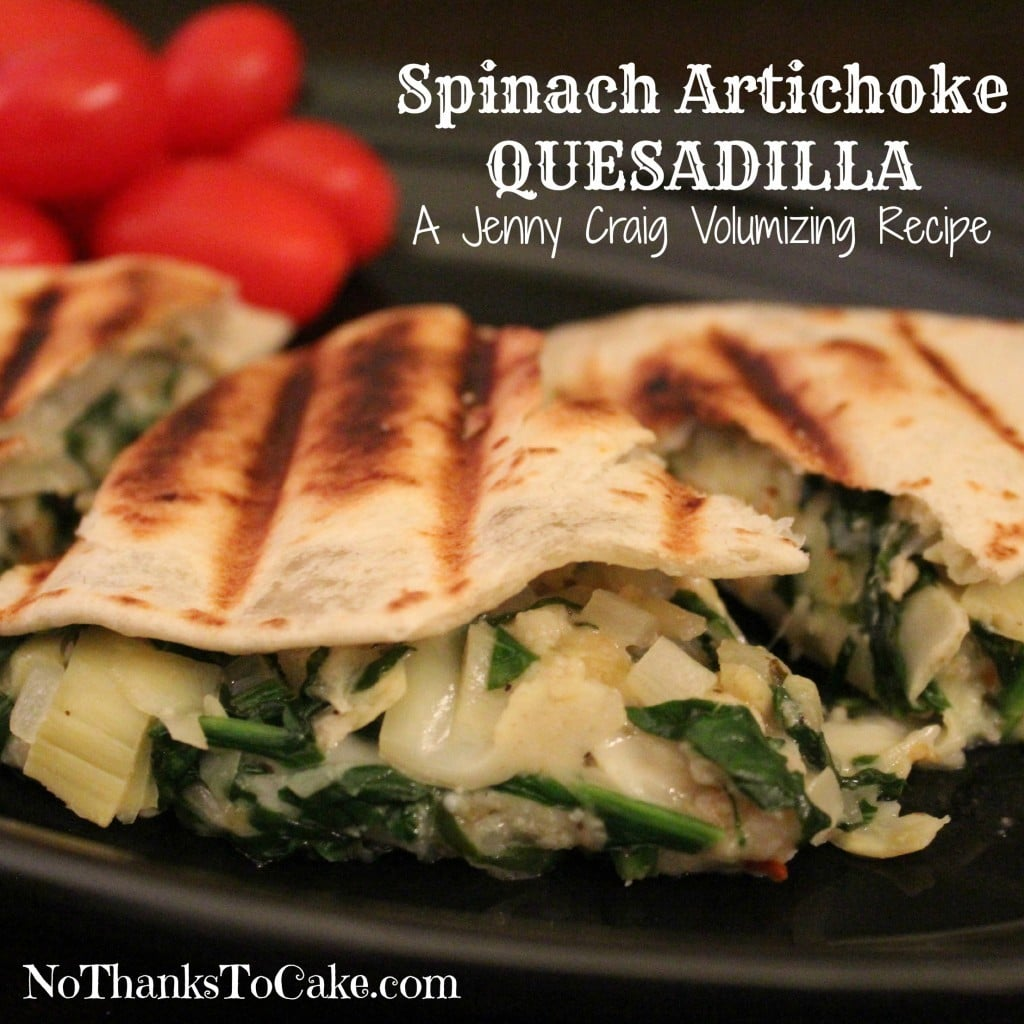 Jenny Craig Spinach and Artichoke Quesadilla | No Thanks to Cake
