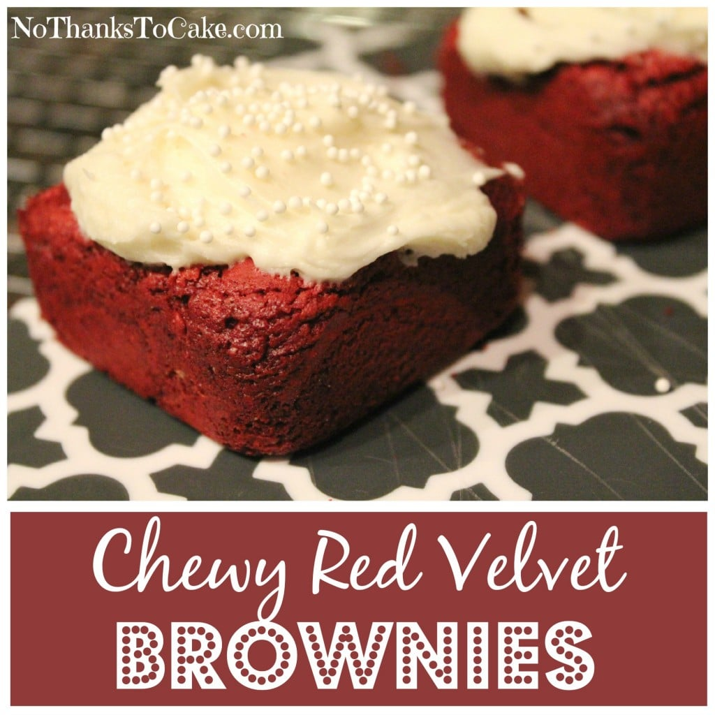 Chewy Red Velvet Brownies | No Thanks to Cake