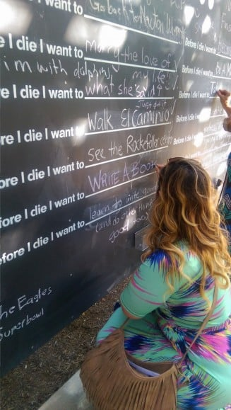 Before I Die Wall | No Thanks to Cake