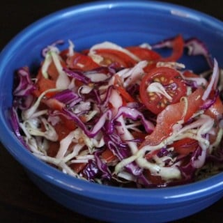 Italian Herb Spiralized Cole Slaw