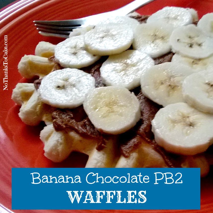 Banana Chocolate PB2 Waffles | No Thanks to Cake