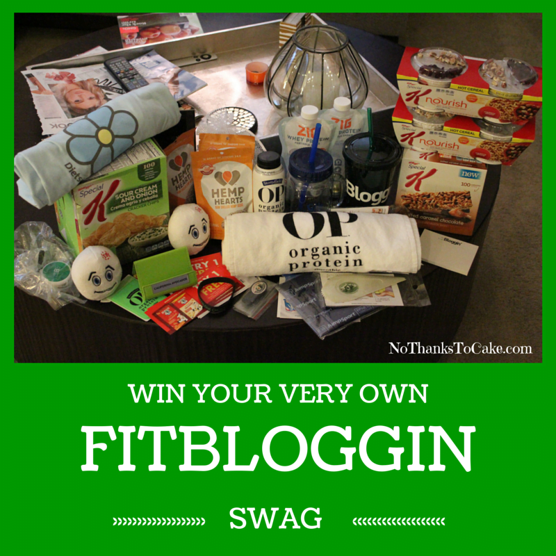 Win Your Very Own Fitbloggin Swag | No Thanks to Cake