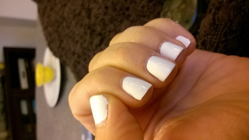 White Nail Polish | No Thanks to Cake