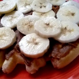 Banana Chocolate PB2 Waffles