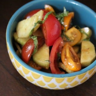 Tomato Cucumber Salad with Fresh Basil