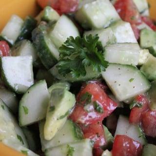 Summer Chopped Vegetable Salad
