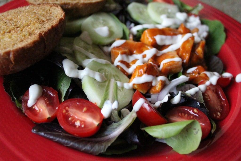 Jenny Craig Volumizing Buffalo Chicken Salad | No Thanks to Cake