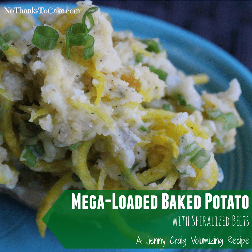 Mega Loaded Baked Potato with Spiralized Beets | No Thanks to Cake
