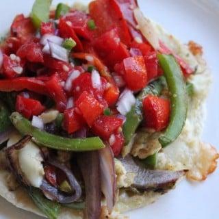 Jenny Craig Recipe Creation: Baja Chicken Fajita Quesadilla Pizza