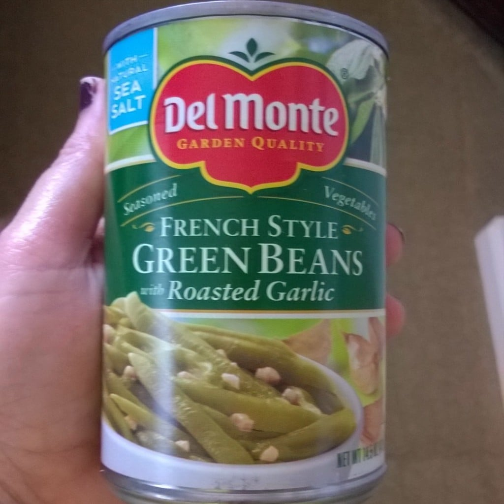 Del Monte French Style Green Beans with Roasted Garlic | No Thanks To Cake