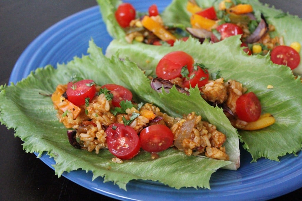 Jenny Craig Volumizing Southwest Fajita Lettuce Boats | No Thanks to Cake