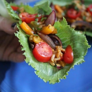 Jenny Craig Recipe Creation:  Southwest Fajita Lettuce Boats