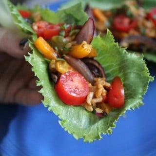 Jenny Craig Recipe Creation:  Southwest Fajita Lettuce Boats