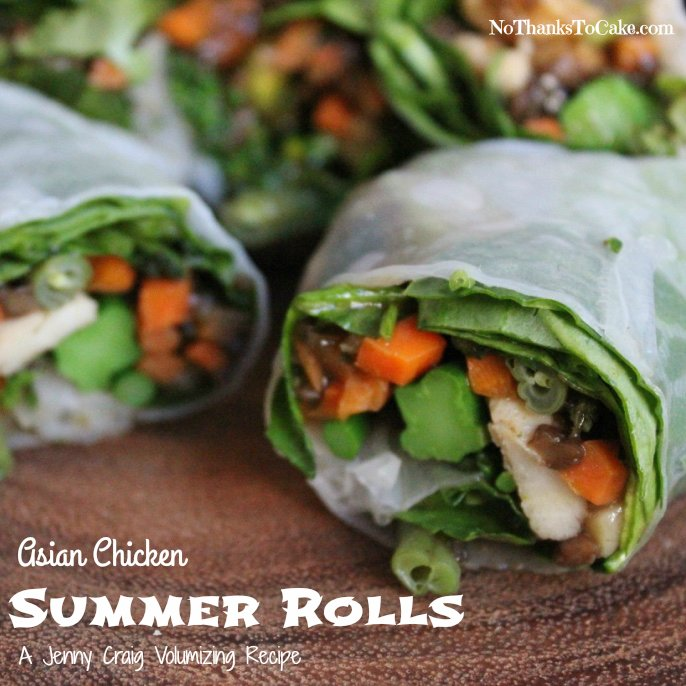 Asian Chicken Summer Rolls | No Thanks to Cake