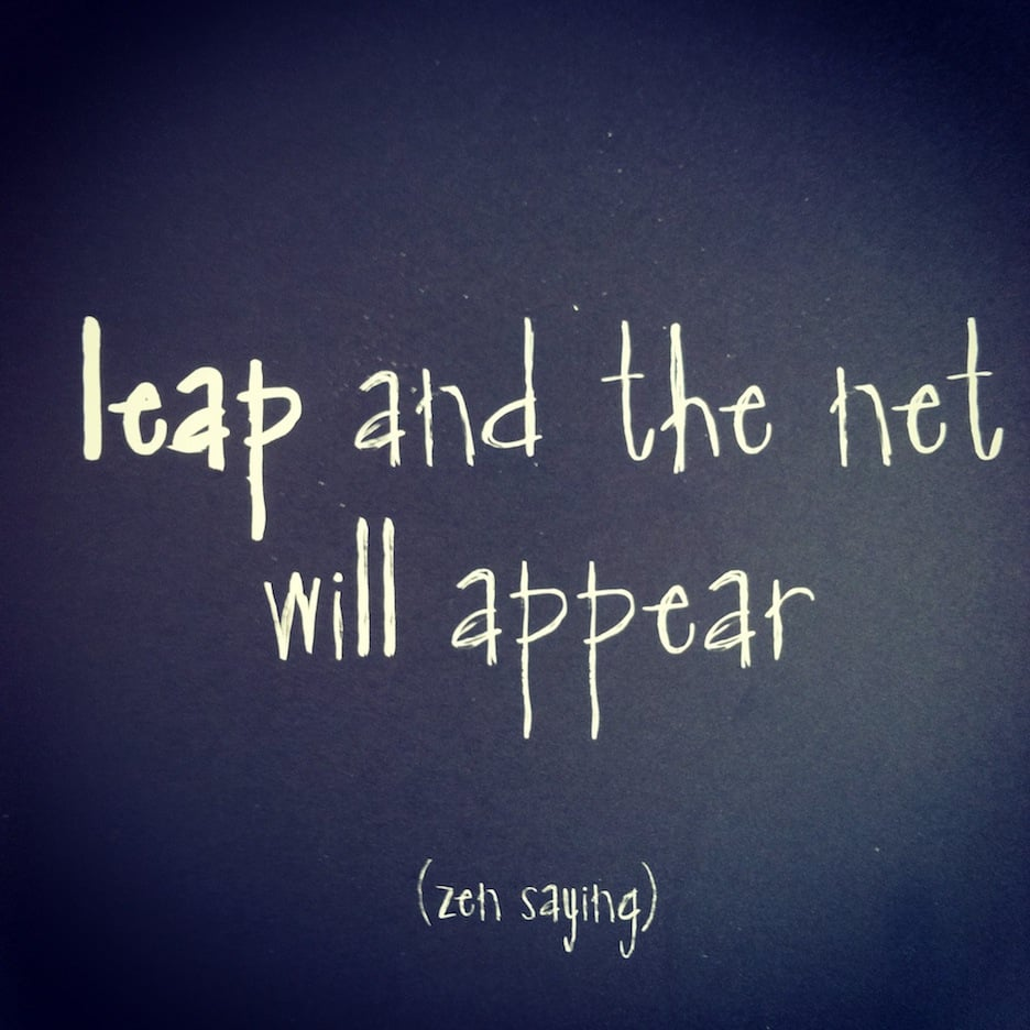 Leap and the Net Will Appear | No Thanks to Cake