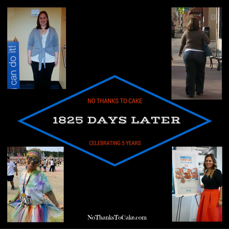 1825 Days Later | No Thanks to Cake