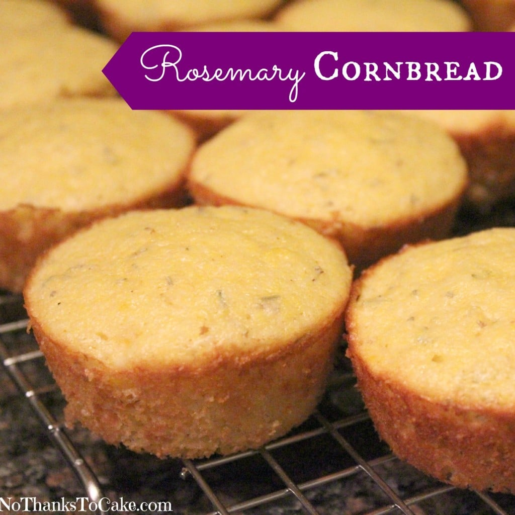 Rosemary Cornbread | No Thanks to Cake