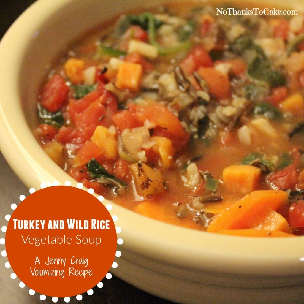Jenny Craig Volumizing: Turkey and Wild Rice Vegetable Soup | No Thanks to Cake