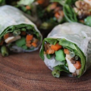 Jenny Craig Recipe Creation:  Asian Chicken Summer Rolls