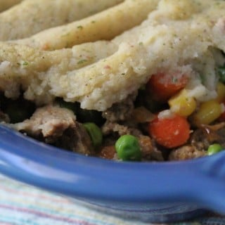 Jenny Craig Recipe Creation:  Cauliflower-Topped Shepherd's Pie