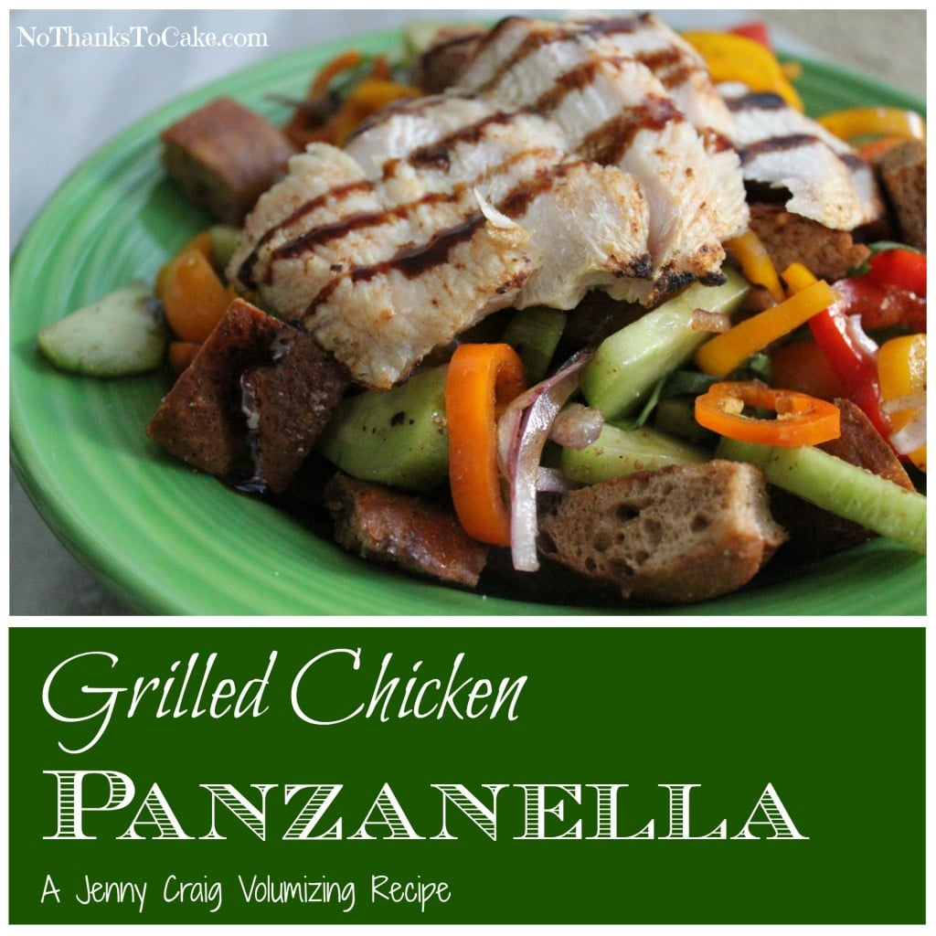 Jenny Craig Chicken Panzanella Volumizing Recipe | No Thanks to Cake
