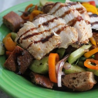 Jenny Craig Recipe Creation:  Grilled Chicken Panzanella