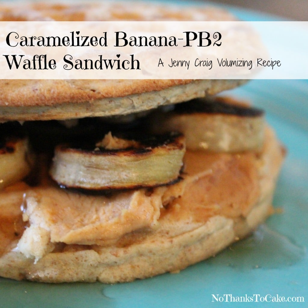 Caramelized Banana-PB2 Waffle Sandwich | No Thanks to Cake