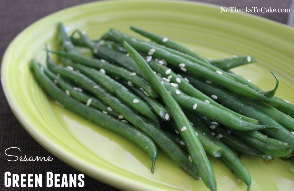 Sesame Green Beans | No Thanks to Cake