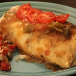 Jenny Craig Recipe Creation: Stuffed Chicken Fajita Burrito with Green Chile