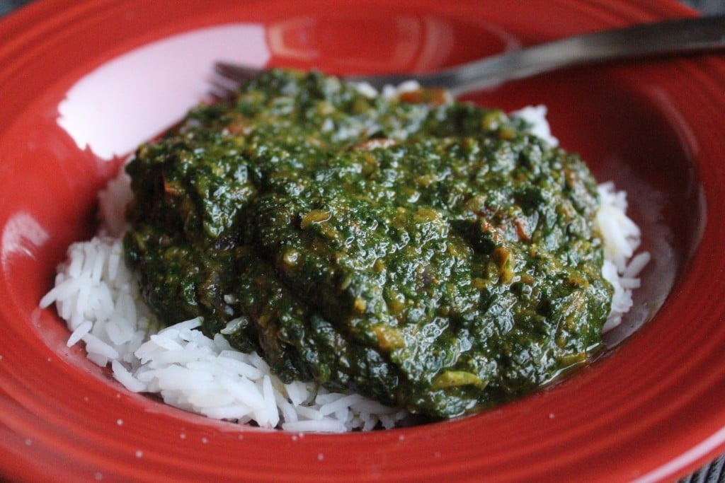 Indian-Spiced Creamed Spinach | No Thanks to Cake