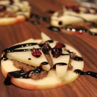 Apple & Manchego Bites with Balsamic Walnut Butter