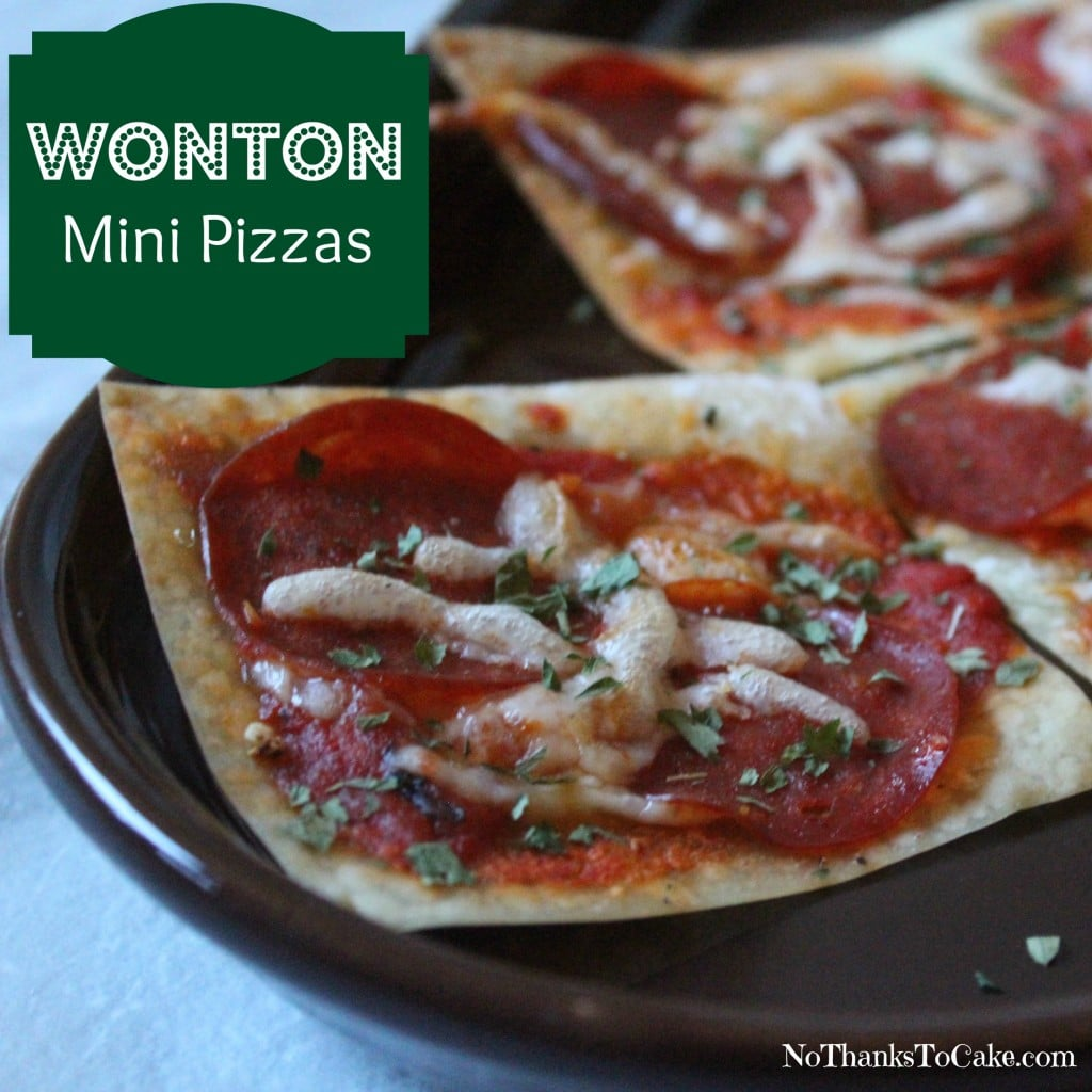 Wonton Mini Pizzas | No Thanks to Cake