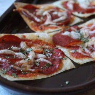 Wonton Mini Pizzas