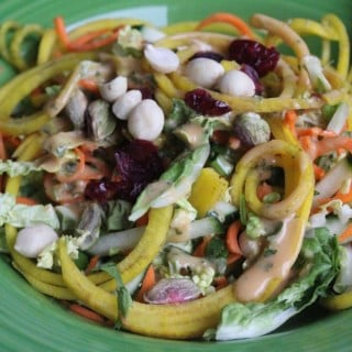 Tangled Thai Salad with Spicy Peanut Dressing