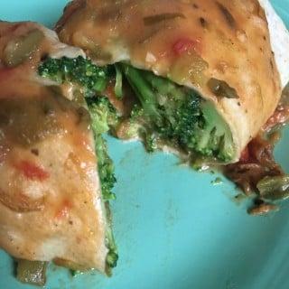 Jenny Craig Recipe Creation:  Broccoli-Stuffed Chicken Burrito