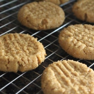 Four Ingredient Peanut Butter Cookies | No Thanks to Cake