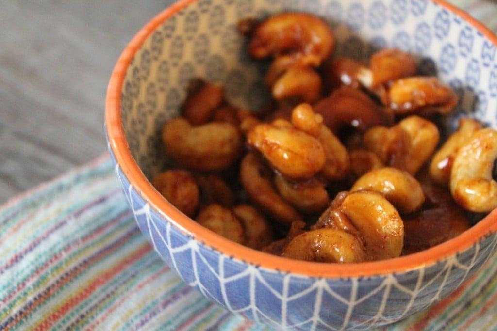 Honey Mustard Roasted Cashews | No Thanks to Cake