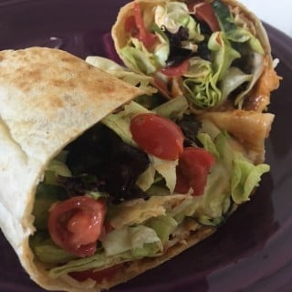 Jenny Craig Recipe Creation: Spicy Chicken Burrito Wrap